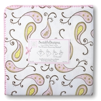 Swaddle Designs. Пеленка Paisley Pink фланель Арт.SD-120PP
