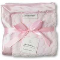 Swaddle Designs. Плед Stroller Blanket Puff C Pstl Pink в коляску Ар.SD-058PP