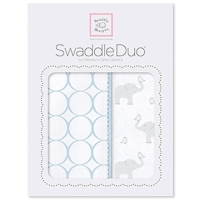 Swaddle Designs - Комплект пеленок Elephant & Chickies Mod Duo голубой Арт.SD-474PB