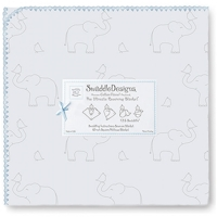 Swaddle Designs. Пеленка Elephant-Chickies SB фланель Арт.SD-352SB