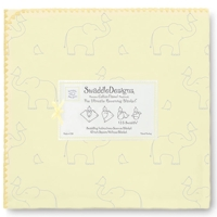 Swaddle Designs. Пеленка Elephant-Chickies SY фланель Арт.SD-352SY