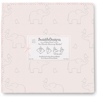Swaddle Designs. Пеленка Elephant-Chickies Pink фланель Арт.SD-352SP