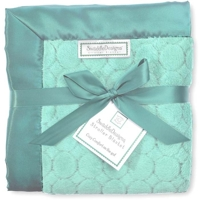 Swaddle Designs. Плед Stroller Blanket Puff C Turquoise в коляску Ар.SD-168TQ