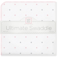 Swaddle Designs. Пеленка Sterling Lt Dot PP фланель Арт.SD-412PP