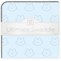 Swaddle Designs. Пеленка Bonjour Bunnie PB фланель Арт.SD-608PB