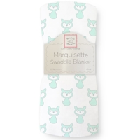 Swaddle Designs. Пеленка тонкая Little Fox Pstl SeaCrystal Marquisette Арт.SD-626PSC