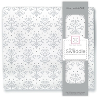 Swaddle Designs. Пеленка муслиновая Lillie Sterling тонкая Арт.SDM-158BK
