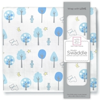 Swaddle Designs. Пеленка муслиновая Forest Blue тонкая Арт.SDM-151B