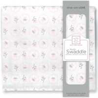 Swaddle Designs. Пеленка муслиновая Posies Pstl Pink тонкая Арт.SDM-154PP