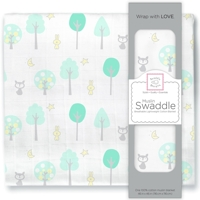 Swaddle Designs. Пеленка муслиновая Woodland Green тонкая Арт.SDM-156SC