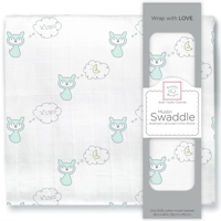 Swaddle Designs. Пеленка муслиновая Fox & Moon Sea Crystal тонкая Арт.SDM-162SC-FM