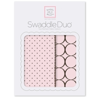 Swaddle Designs - Детские пеленки Duo Pstl Pink Modern Арт.SD-180PP