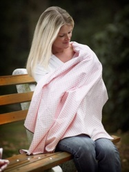 Swaddle Designs - Пеленка W-BR Dot Pink фланель Арт.SD-014PP