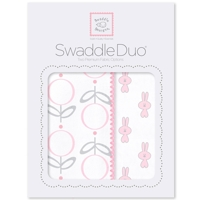 Swaddle Designs - Комплект пеленок Little Bunnie розовый Арт.SD-638P