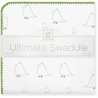 Swaddle Designs. Пеленка Chickies Kiwi фланель Арт.SD-162KW