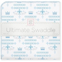 Swaddle Designs. Пеленка Little Prince Pstl Blue фланель Арт.SD-414PB