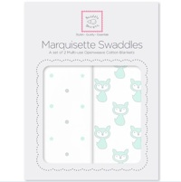 Swaddle Designs Набор пеленок 2-Pack Little Fox Dottie Star Marquisette Арт.SD-632PSC