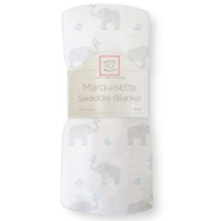 Swaddle Designs. Пеленка тонкая Elephant-Chickies Pstl Blue Marquisette Арт.SD-458PB