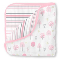Swaddle Designs Легкое муслиновое одеяло-покрывало-пеленка Luxe Muslin Pink Thicket Арт.SDM-358P
