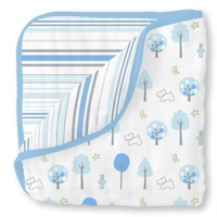 Swaddle Designs Легкое муслиновое одеяло-покрывало-пеленка Luxe Muslin Blue Forest Арт.SDM-358B