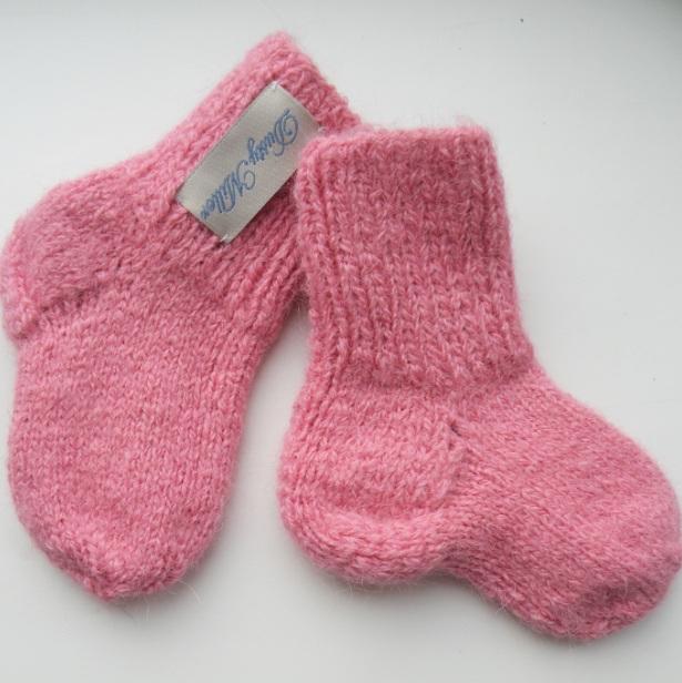 носочки розовые из шерсти альпаки Dusty Miller 800 Pp детские