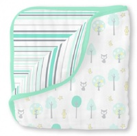 Swaddle Designs Легкое муслиновое одеяло Luxe Muslin Green Woodland Арт.SDM-358SC