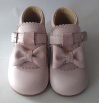 Ботинки на первый шаг розовые с бантиком