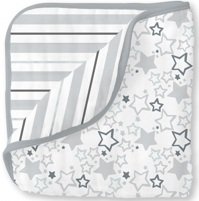 Swaddle Designs. Одеяло Luxe Muslin Starshine Shimmer Sterling Арт.SDM-353ST
